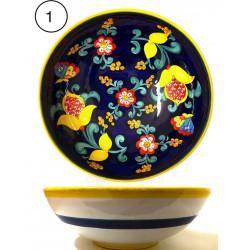 Insalatiera in ceramica di Deruta - decori diversi - diametro cm 30 - Artigianato Artistico Fatto a Mano