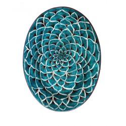 Vassoio ovale in ceramica decori diversi Deruta - dimensione cm 31x42- Artigianato Artistico Fatto a Mano