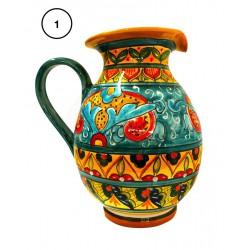 Brocca in ceramica  decori diversi Deruta - altezza cm 20 - Artigianato Artistico Fatto a Mano