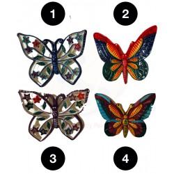 Farfalle in ceramica di Deruta - decori diversi - dimensioni cm 13x15 - Artigianato Artistico Fatto a Mano