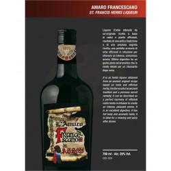Amaro Francescano di Assisi 28% Alc.-Vol. - bottiglia 700 ml - Prodotti tipici Umbri