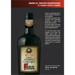 Amaro al Tartufo Francescano di Assisi 28% Alc.-Vol. - bottiglia 700 ML- Prodotti Tipici Umbri