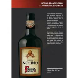 Nocino Francescano di Assisi 30% Alc.-Vol. - bottiglia 700 ML- Prodotti Tipici Umbri