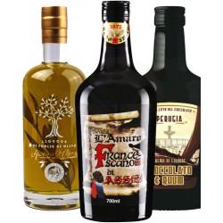 Degustazione scatola n.6 bottiglie mix liquori  Umbria - Bottiglie da 700 ML - Prodotti Tipici Umbri