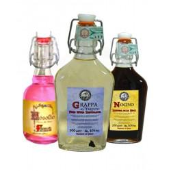 Degustazione scatola n.6 bottiglie mix Liquori Fiaschetta - Bottigliette da 200 ML - Prodotti Tipici Umbri