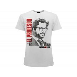 T-shirt Casa di Carta El Profesor , cotone 100%. Prodotto originale venduto su licenza.