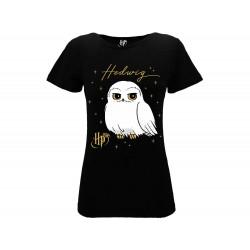 T-Shirt Harry Potter Edvige Donna, cotone 100%. Prodotto originale venduto su licenza.