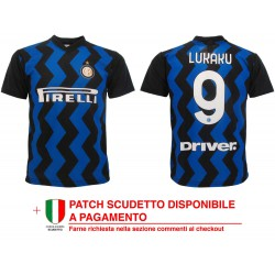 Maglia Calcio Ufficiale Fc Internazionale 20/21, Poliestere100%. Prodotto originale venduto su licenza.