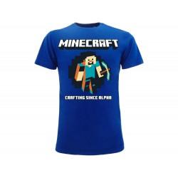 T-Shirt Minecraft Crafting since Alpha, cotone 100%. Prodotto originale venduto su licenza.
