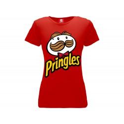 T-Shirt Pringles Logo Donna, cotone 100%. Prodotto originale venduto su licenza.