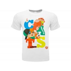T-Shirt 44 Gatti Polpetta e Lampo, cotone 100%. Prodotto originale venduto su licenza.
