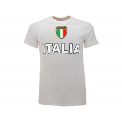 T-Shirt Turistica Italia Scudetto Grande, cotone 100%.
