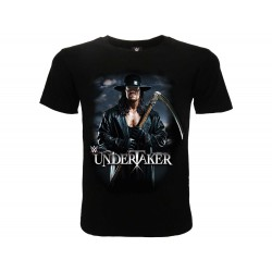 T-Shirt WWE Undertaker, cotone 100%. Prodotto originale venduto su licenza.