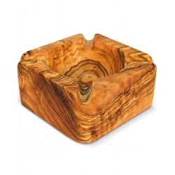 Posacenere quadrato in legno di olivo -cm 9x9x4 - Artigianato Artistico fatto a mano