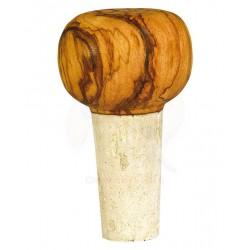 Tappo a pomello in legno di olivo -cm 5x4 - Artigianato Artistico fatto a mano