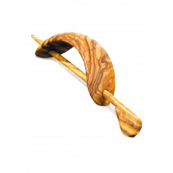 Fermacapelli con spillone in legno di olivo - Artigianato Artistico fatto a mano
