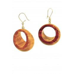 Orecchini in legno di olivo -Artigianato Artistico fatto a mano