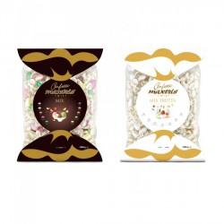 Confetti cioccomandorla frutta bianco o colorato incartati singolarmente. Busta da KG 1