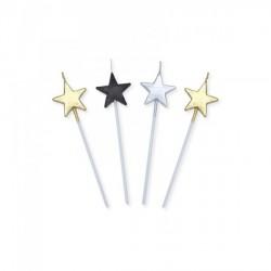 Set 4 candeline stella. CM 13