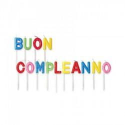 """Set lettere candeline per scritta """"Buon Compleanno"""" CM 7"""