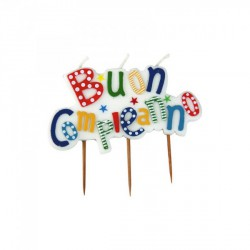 """Candelina """"Buon Compleanno"""". CM 10x7"""