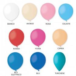 Set 100 palloncini in lattice, ideali per creare base per palloncini mylar. CM 13