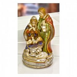 Natività porcellana carillon CM 11x11 H 22