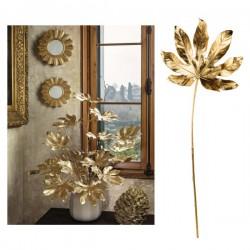 Foglia di araglia oro con gambo. CM 63