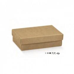 Scatola fondo e coperchio avana CM 16.5x11 H 4