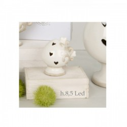 Pumo ceramica con led.H 8.5