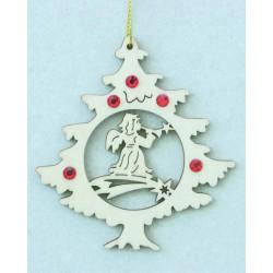 Albero natalizio con angelo e cristalli Swarovski