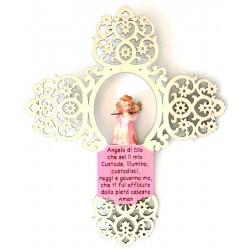 Croce con angelo e preghierina