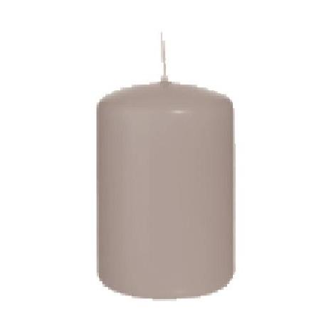 16 candele grigio argento 8 x 6
