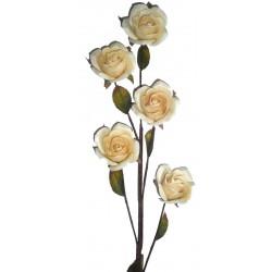 La Rosa bianca in legno naturale