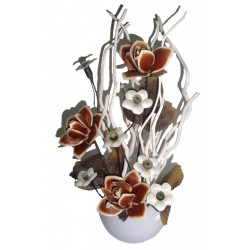 Fiore di colore marrone con vaso