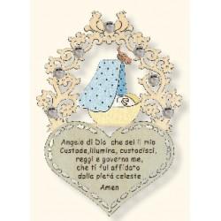 Preghierina per neonato con Swarovski