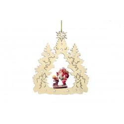 Addobbo natalizio con Babbo Natale