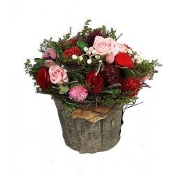 Composizione di fiori 18x18x18cm