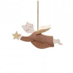 Angelo da appendere con stella  L6,5cm
