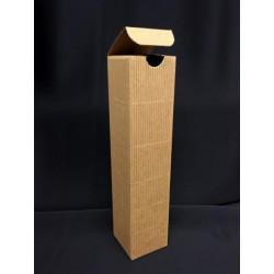 Scatola cartoncino avana ondulata. CM 5x5 H 21.5