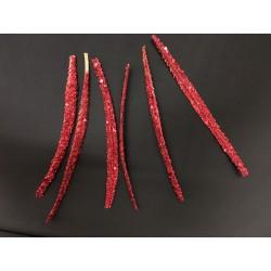Set 6 foglie glitter da applicazione. CM12-14
