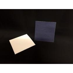 Fondo cartoncino bicolor bianco e blu CM 6x6