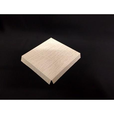 Fondo cartoncino rialzato avorio CM 15x15