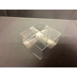 Scatola pvc trasparente CM 5x5 H 3