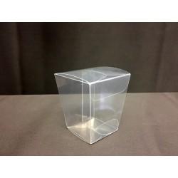 Scatola pvc trasparente. Base CM 3x3 - Apertura CM 4x4. H 4