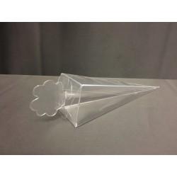 Scatola pvc trasparente forma cono CM 15