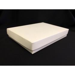 Scatola cartoncino fondo e coperchio avorio CM 22x16 H 4