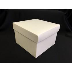 Scatola cartoncino fondo e coperchio avorio CM 16.5x16.5 H 11.5