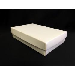 Scatola cartoncino fondo e coperchio avorio CM 13x9 H 4