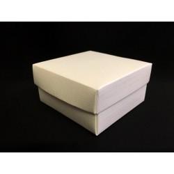 Scatola cartoncino fondo e coperchio avorio CM 12x12 H 6